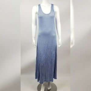 GAP Blue White Striped Maxi Dress Small